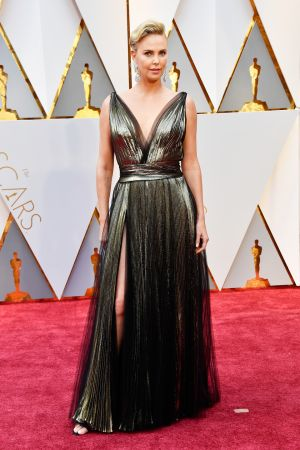 Charlize Theron in Leslie Fremar. Photograph: Frazer Harrison/Getty Images