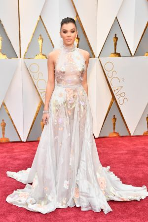 Haliee Steinfeld in Ralph and Russo. Photograph: Frazer Harrison/Getty Images