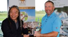 Announcing details of the Irish PGA championship were Moyvalley Hotel and Golf Resort director, Vichai Tripipatkul (left) with 2016 Irish PGA Champion, Damien McGrane.