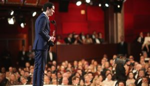 Damien Chazelle accepts the Best Director Oscar for La La Land at the  89th Annual Academy Awards.  Best picture is voted in a proportional system. Best director is first past the post. Photograph:  Christopher Polk/Getty Images
