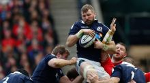 John Barclay stood in as Scotland captain for their win over Wales on Saturday. Photo: Russell Cheyne/Reuters