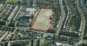 The 2.02 hectare  site on Botanic Road in Glasnevin, Dublin 9, where 119 homes are being constructed
