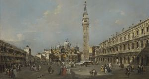 Francesco Guardi's  painting of the Piazza San Marco in late-afternoon shadow, expected to fetch between €4 million and €6 million