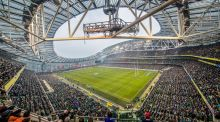 A general view of the Aviva Stadium during Saturday's Six Nations match between Ireland and France. Photograph: James Crombie/Inpho