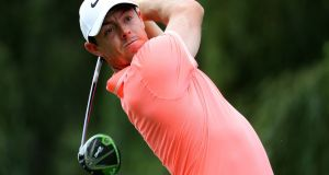 Rory McIlroy at the South African Open in January. His rib injury first manifested itself in Johannesburg. Photograph: Warren Little/Getty Images