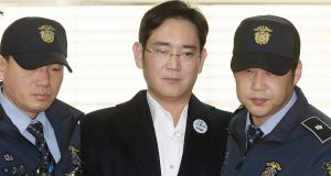 Jay Y Lee, vice chairman of Samsung Electronics, was arrested February 17th on a charge of bribery. Photograph: Jung Ui-Chel/EPA