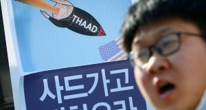 South Korea decided last year to deploy the THAAD system to protect against North Korea's missile programme. Photograph: Jeon Heon-Kyun/EPA