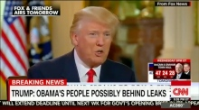 Trump accuses Obama of orchestrating protests and leaks against him