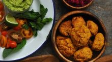 'Versatile sweet potato cakes,  full of nutrients and a big hit with kids'