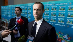 Uefa president Aleksander Ceferin has suggested Donald Trump's travel restrictions could hinder the USA's chances of hosting the 2026 World Cup. Photograph: Oleg Nikishin/Getty