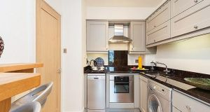 ... corner breakfast bar, granite countertops and Zanussi appliances