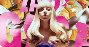 A detail from the cover of Lady Gaga's Artpop (2013)  by   Jeff Koons. Label: Interscope Records