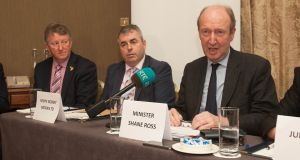 Minister for Transport Shane Ross has again insisted he will not become involved directly in the dispute at Bus Éireann. Photograph: Gareth Chaney Collins