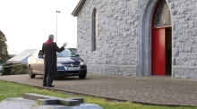 Ash Wednesday 'Drive-thru' service at Galway church