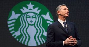 "Starbucks chief executive Howard Schultz: Called the first outlet in Italy the ""culmination of a great dream"". Photograph: Reuters/David Ryder"