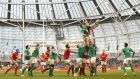 Ireland's CJ Stander and Alun-Wyn Jones of Wales compete for a line-out in last year's Six Nations game. Ireland will look to target the Welsh set-piece this years. Photograph: Colm O'Neill/Inpho