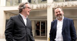 Graham McLaren and Neil Murray,  directors of the Abbey Theatre, hope to fire up the Peacock again, with a new programme of plays. Photograph: Cyril Byrne