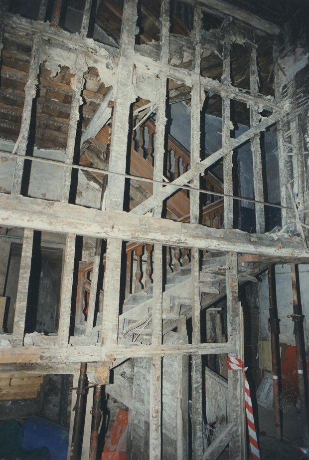 The interior of 21 Aungier Street priory to renovation. Photograph: Dublin Civic Trust