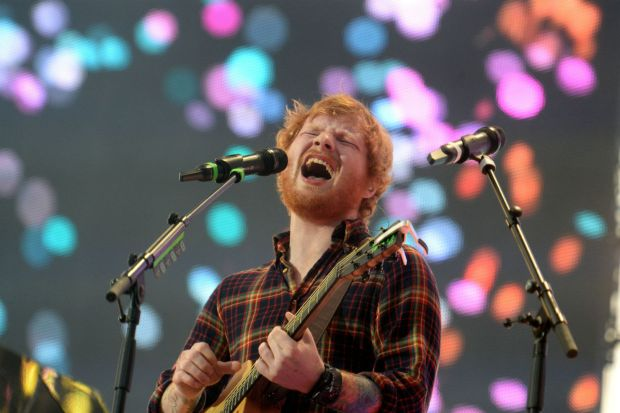 Ed Sheeran performing at Croke Park in 2015. Photograph: Cyril Byrne/The Irish Times