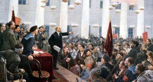 Bolshevik leader: Lenin harangues deputies at the Second Soviet Congress, in 1917. Photograph: Ann Ronan/PC/Getty