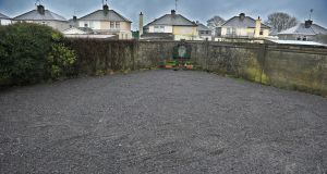 The site of a former mother and baby home in Tuam, where there is now verified evidence of remains of a significant number of babies and young children. Photograph: Ray Ryan