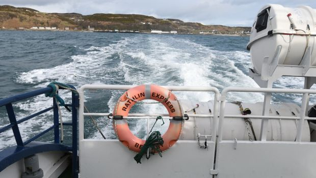 Daily ferry sailings across the 9.5km sound between Ballycastle and Rathlin run all year, weather permitting. Photograph: Colm Lenaghan/Pacemaker Press