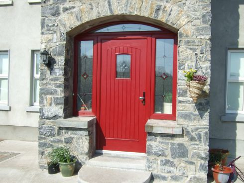 This front door and surround by Energlaze comes with the promise that it will not rot, bow, warp, crack, swell or shrink. It is doubly weather-sealed, comes in 12 colour options and a range of classical and contemporary door styles and glazing options. All doors features an eight-point hook-locking system with a dead latch. Pictured is the CD2, painted fire-engine red with leaded glass side panels and a fanlight. It costs €2,800, ex-VAT. The door hardware featured is in brass finish but is also available in bronze, chrome, satin grey or silver finishes.   energlaze.ie