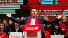 "Macedonia's Social Democrat leader Zoran Zaev: ""We have seen what happened in Ukraine, Egypt, Libya and elsewhere. We have to take care here."" Photograph: Ognen Teofilvovski/Reuters"