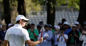 Rory McIlroy in action during the Mexico Championship at Chapultepec Golf Club in Mexico City. Photograph: PA