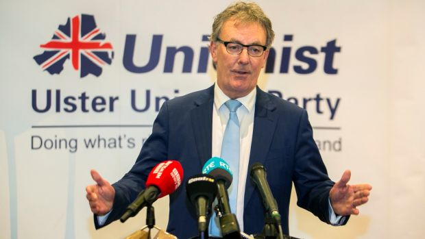 UUP leader Mike Nesbitt announces his resignation at the Park Avenue Hotel, Belfast. Photograph: Liam McBurney/PA