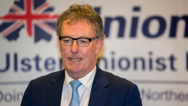 UUP leader Mike Nesbitt announces his resignation at the Park Avenue Hotel, Belfast on Friday.