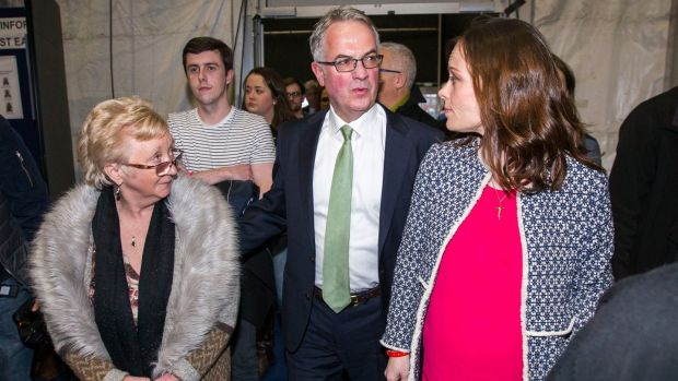 SDLP member Margaret Walsh, Alex Attwood (who was not elected) and Nicola Mallon (who was) in Belfast.