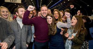 Alliance Party MLA Chris Lyttle with his wife Lorraine.