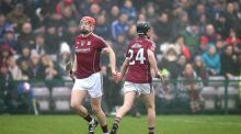 Galway's Joe Canning continued his return from injury in their Division 1B clash with Laois. Photo: Inpho