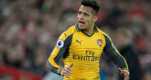 Arsenal's Alexis Sanchez was dropped for their clash with Liverpool after storming out of a training session midweek. Photo: Peter Powell/EPA