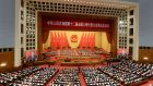 Muted tone: opening session of the National People's Congress in Beijing. Photograph: Wang Zhao/AFP/Getty Images