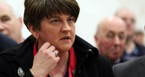 DUP leader Arlene Foster, who had compared republicans to crocodiles during the election campaign, said she hoped for more civility in Northern politics.  Photograph: Paul Faith/AFP/Getty Images