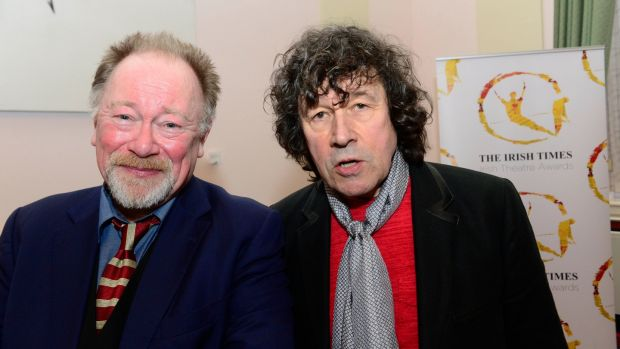 Eoin Roe and Stephen Rea at the 'Irish Times' Irish Theatre Awards at the National Concert Hall. Photograph: Cyril Byrne/The Irish Times