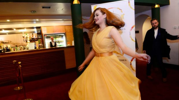 Kate Gilmore at the 'Irish Times' Irish Theatre Awards at the National Concert Hall. Photograph: Cyril Byrne/The Irish Times