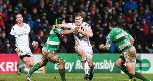 Ireland's Andrew Trimble sustained a hand injury during Ulster's Pro12 victory over Benetton Treviso on Friday. Photograph: Matt Mackey/Inpho.