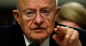 US Director of National Intelligence James Clapper said nothing matching Mr Trump's claims had taken place. Photograph: Kevin Lamarque/Reuters