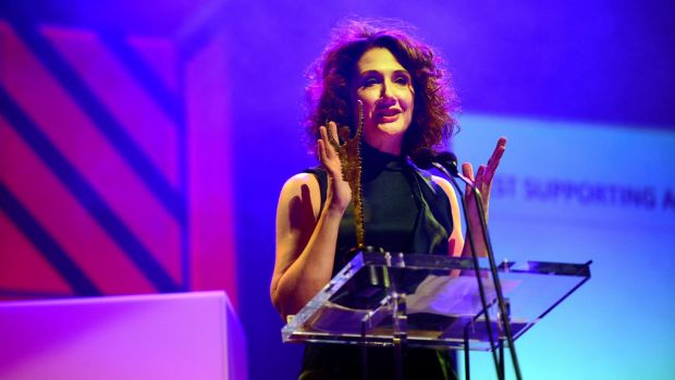05/03/2017 Theatre Awards Best supporting actress Ali White for her roles in Rough Magic Theatre production of Northern Star by Stewart Parker at The Irish Times Irish Theatre awards at the National Concert Hall. Photograph: Cyril Byrne / THE IRISH TIMES