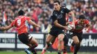James Lowe in action for the Maori All Blacks against Japan in 2014. Photograph: Atsushi Tomura/Getty Images