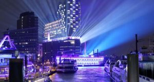 The Elbphilharmonie concert hall in Hamburg's old docklands is now a signature destination  in northern Germany. Photograph:   Bodo Marks/AFP/Getty Images