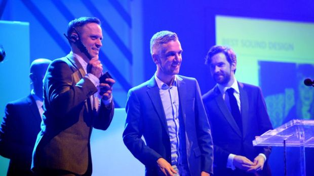Best Sound Design winners Raymond Scannell and Ben Delaney