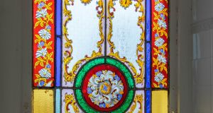 Number 1 Crosthwaite Park West, Dún Laoghaire: a stained-glass window is among the original features