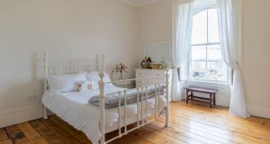 Number 1 Crosthwaite Park West, Dún Laoghaire: bedrooms have views of the  sea or of Crosthwaite Park itself