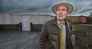 JP Rodgers at the site of the mother and baby home in Tuam where he lived until he was six. Photograph: Ray Ryan