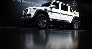Mercedes-Maybach G650 Landaulet SUV, at  the 87th Geneva International Motor Show. Photographer: Luke Macgregor/Bloomberg