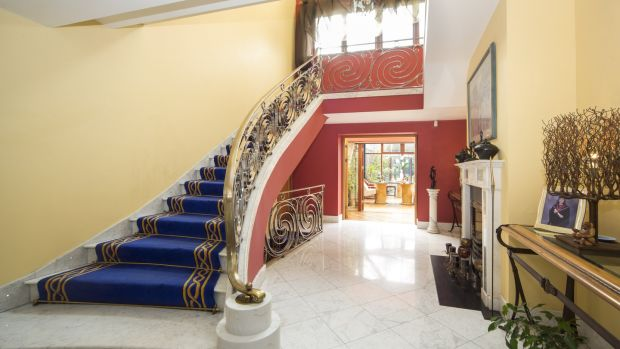 The marble staircase was modelled on the stairways seen in Dubai's Burj Al Arab Hotel.